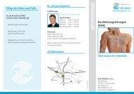 Info-Flyer Durchblutung - Kliniken Kreis Mühldorf am Inn