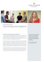 Psychotherapeutische Tagesklinik - Klinik Schützen