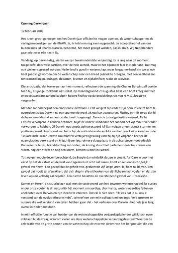 Speech Robbert Dijkgraaf - KNAW