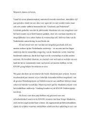 Speech Frits van Oostrom ter gelegenheid van de ... - KNAW