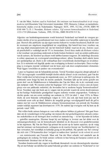 Riskante relaties. Vijf eeuwen homoseksualiteit in Nederland ... - Knhg