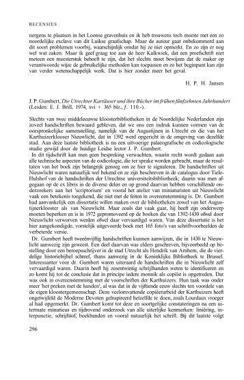Die Utrechter Kartäuser und ihre Bücher im frühen fünfzehnten ...
