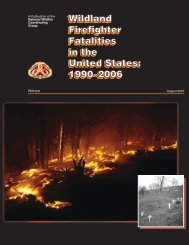Wildland Firefighter Fatalities in the United States: 1990–2006