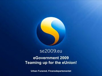 Urban Funered, Finansdepartementet - KommITS