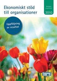 beviljade projektstöd 2010 - Konsumentverket