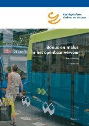 Bonus en malus in het openbaar vervoer - KpVV
