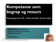 Kompetanse som begrep og ressurs - KS