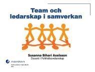 Team och ledarskap i samverkan - KS