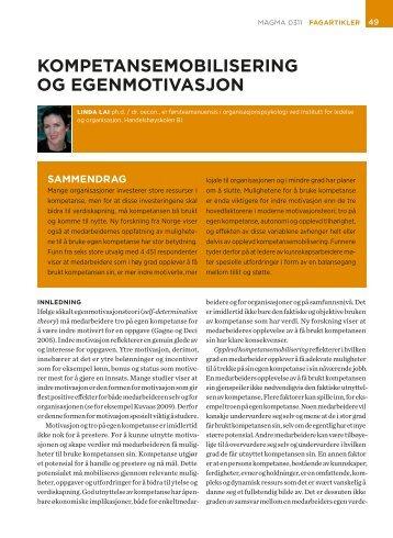 KOMPETANSEMOBILISERING OG EGENMOTIVASJON - KS