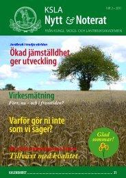 KSLA-Nytt_2-2011 - och Lantbruksakademien