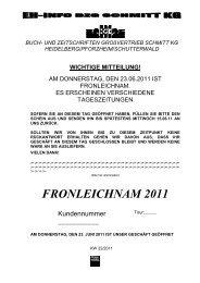FRONLEICHNAM 2011 - Buch- und Zeitschriften Grossvertrieb ...