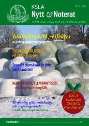 KSLA Nytt & Noterat • nr 4 2010 - och Lantbruksakademien