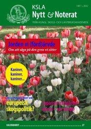 KSLA-Nytt_1-2012 - och Lantbruksakademien