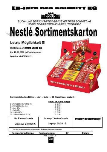 Letzte Möglichkeit - Buch- und Zeitschriften Grossvertrieb Schmitt  KG