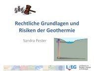 oberflächennahe Geothermie