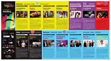 Programación completa del FesTVal 2011. - Kulturklik