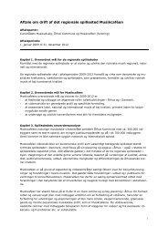 Aftale om drift af det regionale spillested Musikcaféen - Kulturstyrelsen