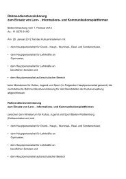 Rahmendienstvereinbarung zum Einsatz von Lern-, Informations