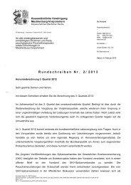 Rundschreiben 2/2013 - Kassenärztliche Vereinigung Mecklenburg ...