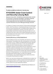 Pressemitteilung PDF - Kyocera