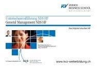 Unternehmensführung NDS HF, General Management NDS HF