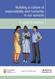 Building a culture of responsibility and humanity in our schools A ...
