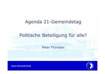 Politische Beteiligung für alle? Vortrag zum ... - Landentwicklung