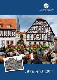 Jahresbericht 2011 zum Download - Deutsche Stiftung Denkmalschutz