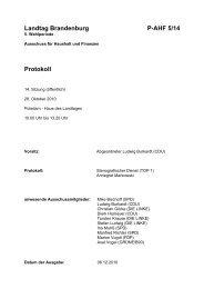 14. Sitzung des Ausschusses für Haushalt und Finanzen - Landtag ...