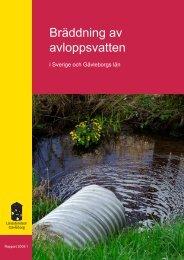 Bräddning av avloppsvatten - Länsstyrelserna