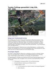 Tumba-Tullinge genomfart (väg 226, VST_058) - Länsstyrelserna