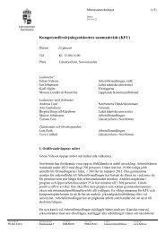 KFU 13-01-22 Minnesanteckningar - Länsstyrelserna