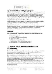 Program för utbildning i tillgänglighet - Länsstyrelserna