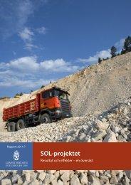 SOL-projektet: Resultat och effekter - en översikt - Länsstyrelserna