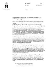 Redovisning av förslag till kompensationsåtgärder ... - Länsstyrelserna