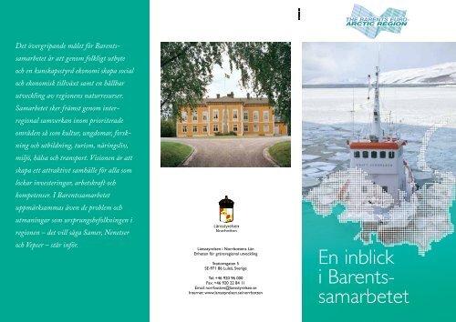 En inblick i Barents- samarbetet - Länsstyrelserna