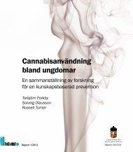 Cannabisanvändning bland ungdomar - Länsstyrelserna