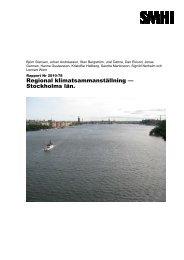 Regional klimatsammanställning — Stockholms län. - Länsstyrelserna
