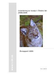 Inventering av rovdjur i Örebro län 2006/2007 - Länsstyrelserna