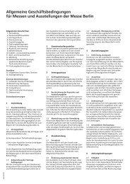 Allgemeine Geschäftsbedingungen der Messe Berlin (PDF, 78,9 kB)