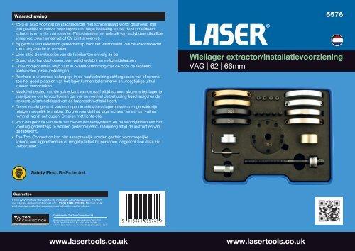 Wiellager extractor/installatievoorziening - Laser Tools