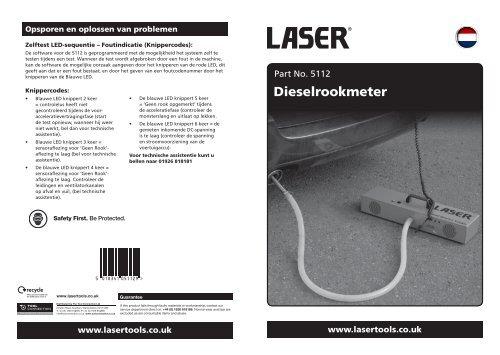 Dieselrookmeter - Laser Tools