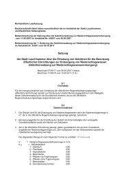 Gebührensatzung - Stadt Lauchhammer