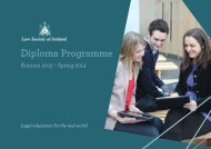 Diploma Programme Prospectus in pdf - Law Society of Ireland