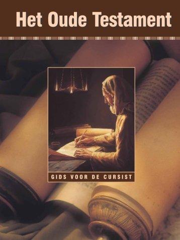 Het Oude Testament: gids voor de cursist