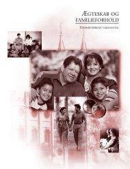 Ægteskab og familieforhold, underviserens vejledning