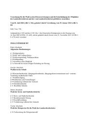 Wahlordnung für die Wahl zu den Elternvertretungen (VO)