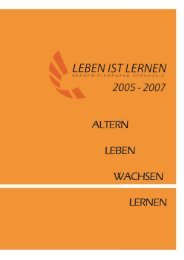 Akademielehrgang Geragogik 2005-2007 - Lebensspuren