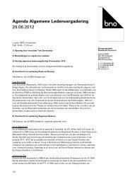 Agenda algemene ledenvergadering BNO (29 juni 2012)
