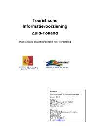 Toeristische Informatievoorziening Zuid-Holland - Gemeente Leiden